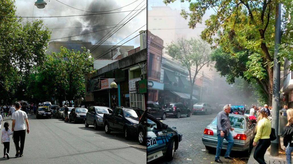 Se incendió una perfumería en Villa del Parque: hay al menos 11 heridos