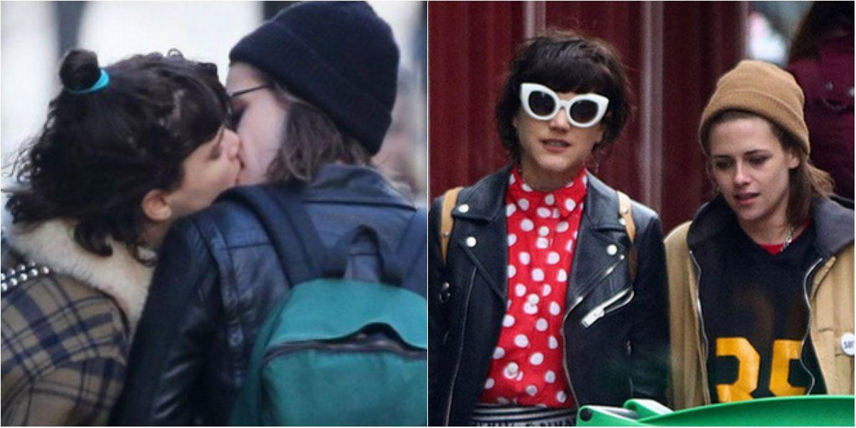 Las fotos de Kristen Stewart con su novia francesa, beso a beso en Paris
