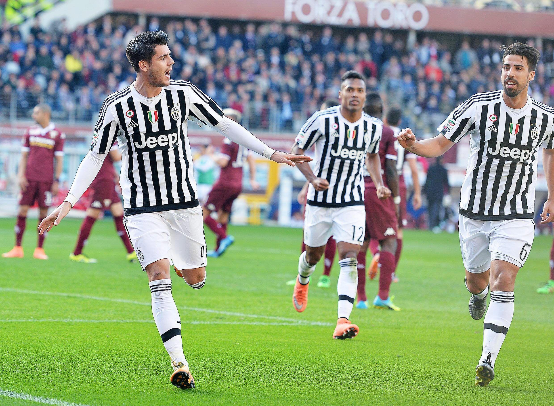 La Juventus goleó al Torino en el clásico y se afianzó en lo más alto de la Liga