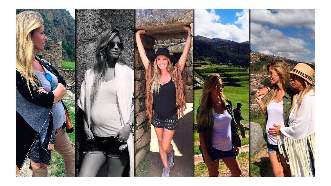 Las vacaciones de Rocío Guirao Díaz, embarazada, en el Machu Pichu