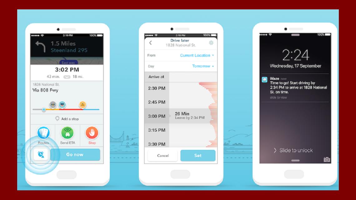 Waze presenta Planned Drive, para que nunca llegues tarde a ningún lado