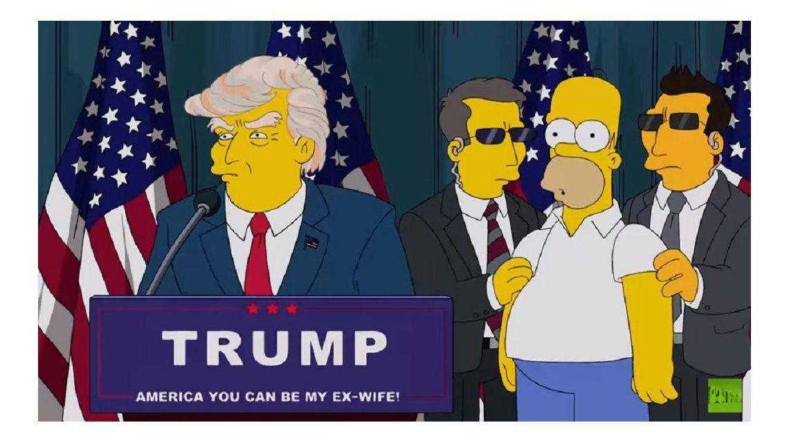 El guionista de Los Simpson habló del capítulo premonitorio sobre Trump