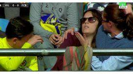 A veces no es el mejor: Messi noqueó a una fanática del Villarreal