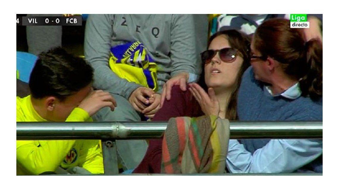 A veces no es el mejor: Messi noqueó a una hincha del Villarreal