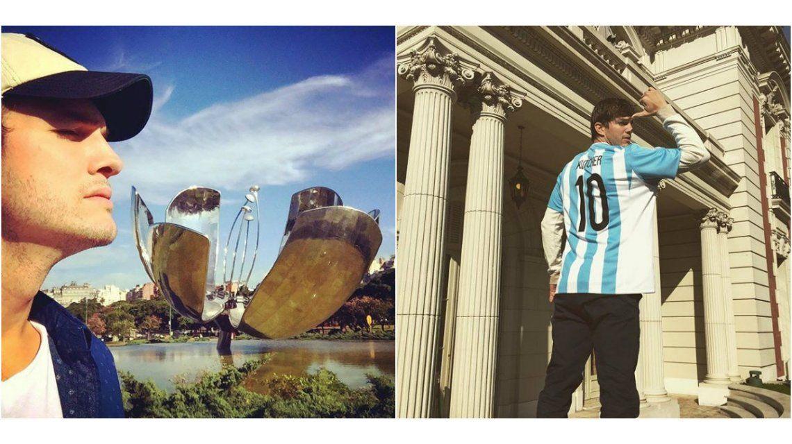 ¿Le saca el lugar a Messi? Ashton Kutcher ya tiene la 10 de la Selección