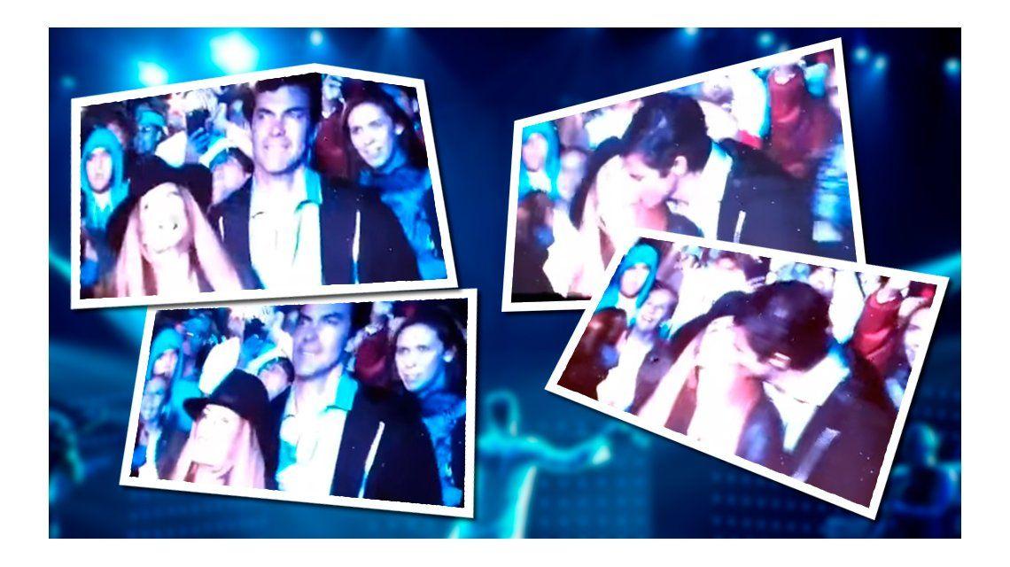 El beso de Isabel Macedo y Juan Manuel Urtubey en el recital de Ricky Martin
