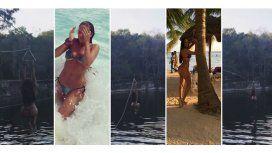 Barbie Vélez se tiró de tirolesa en Cancún