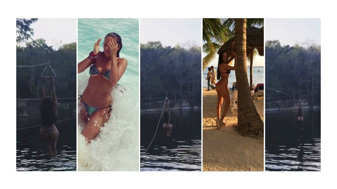 VIDEO: Barbie Vélez se tiró de tirolesa en Cancún y revolucionó las redes sociales