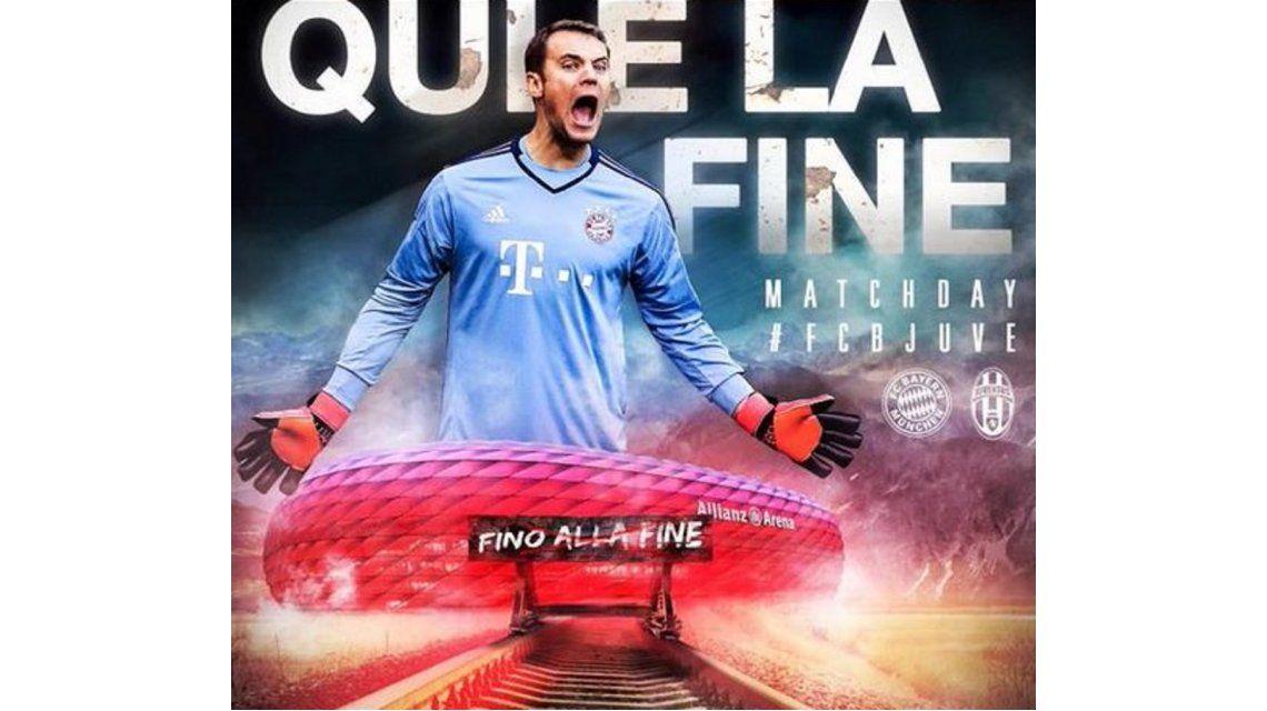 De mal gusto: Bayern Munich armó un afiche con una referencia nazi