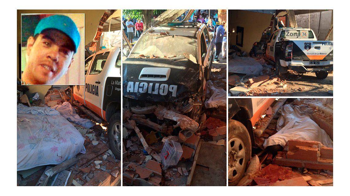 Laferrere: un patrullero chocó contra una casa y mató a una persona