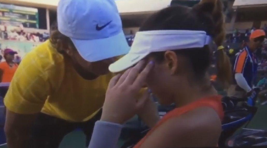 Una tenista top perdió y rompió en llanto en pleno juego: No quiero jugar más