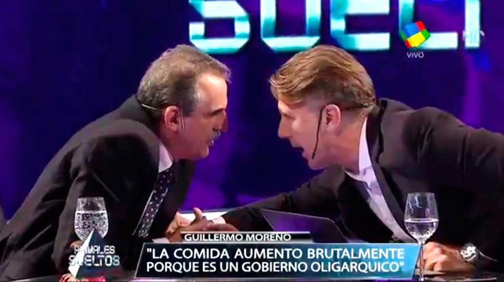 El fuerte cruce entre Guillermo Moreno y Alejandro Fantino en vivo
