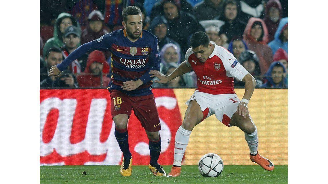 Con goles de la MSN, el Barca le ganó al Arsenal y se metió en cuartos