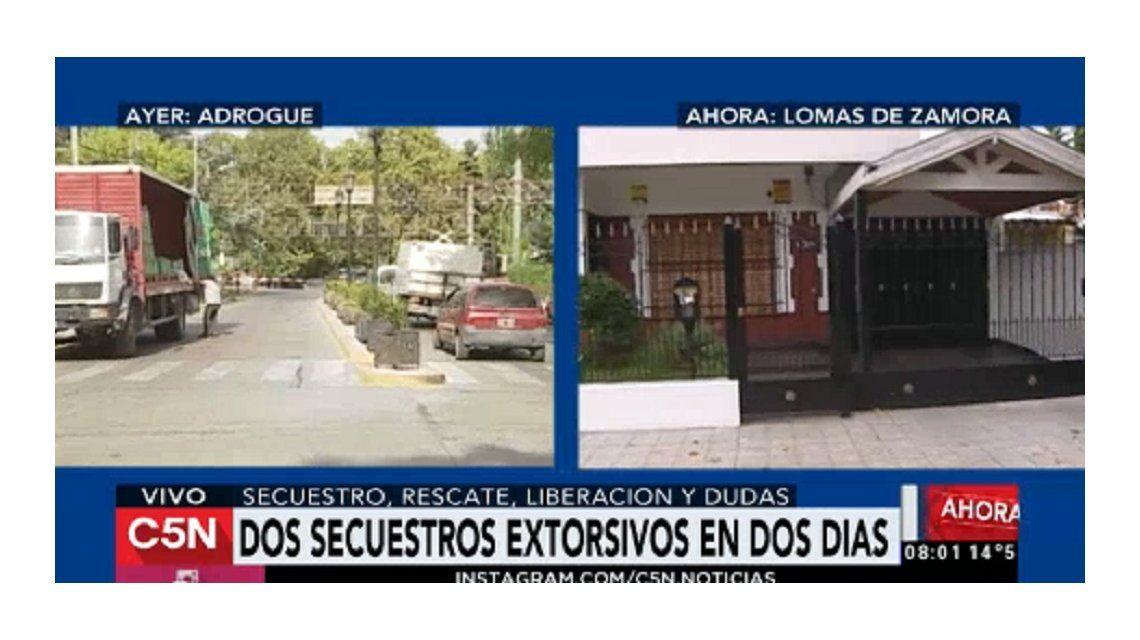 Dos casos de secuestro extorsivo en la misma zona: rescate, liberación y dudas