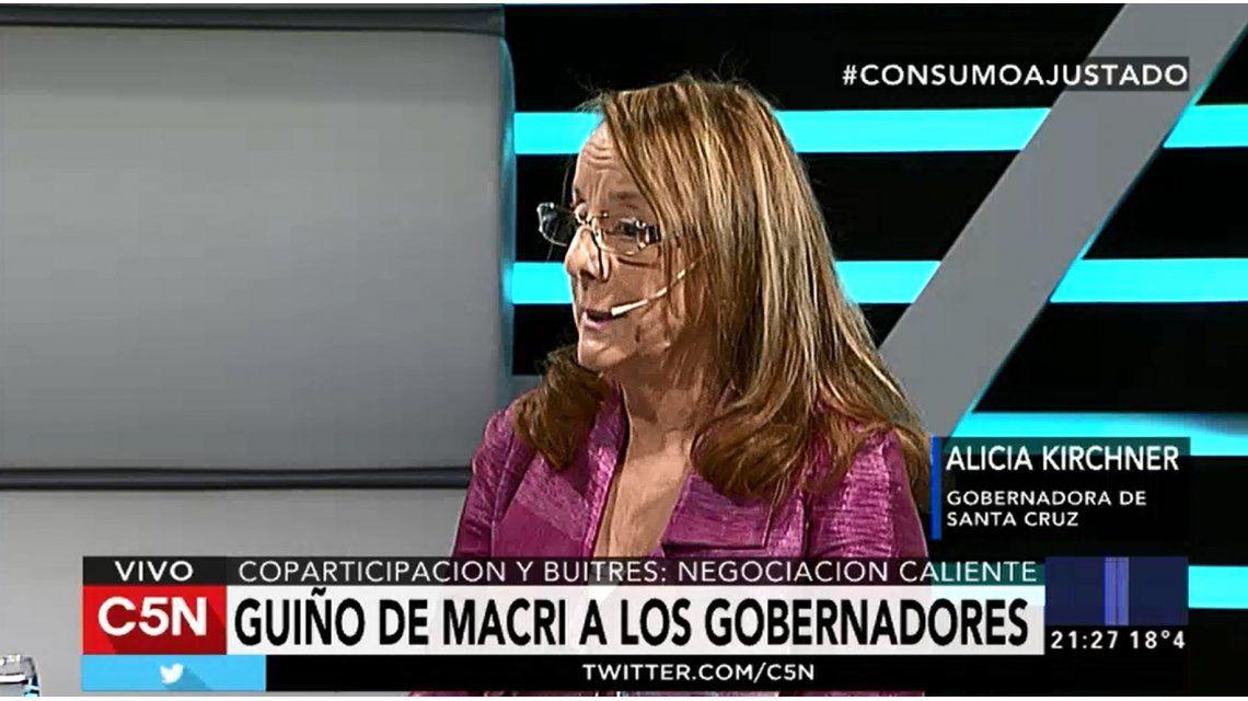 Alicia Kirchner en C5N: Hay una persecución contra Cristina