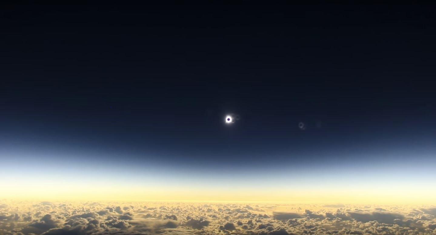 VIDEO: Logran capturar el elicpse solar desde un avión