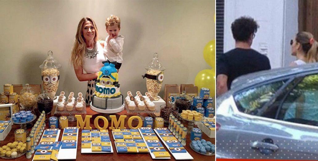 Jimena Barón y Daniel Osvaldo celebraron juntos el cumpleaños de su hijo