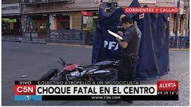 Choque entre un colectivo y una moto: un muerto