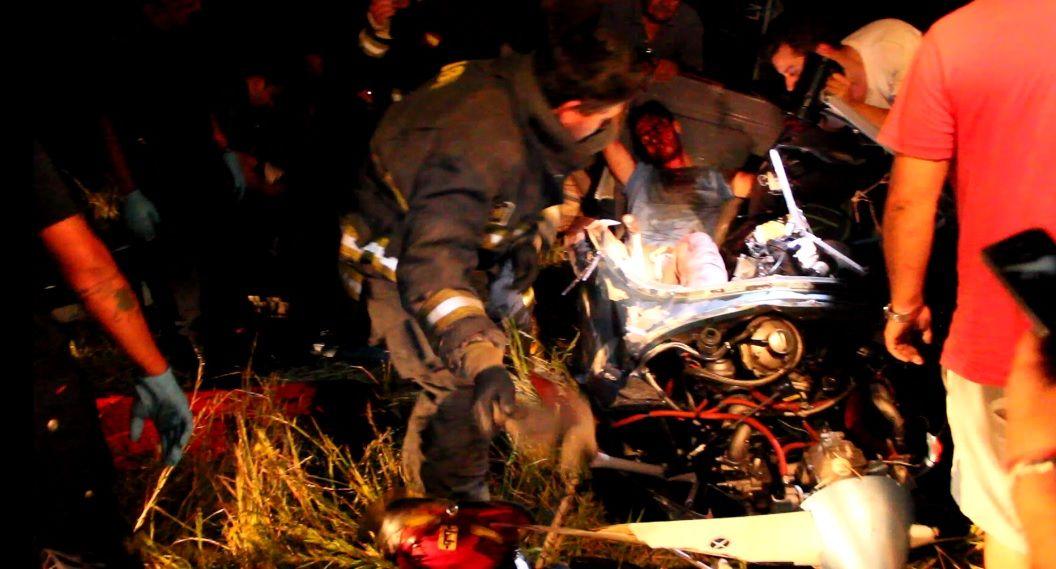 VIDEO: Así fue el rescate en el accidente aéreo de General Rodríguez