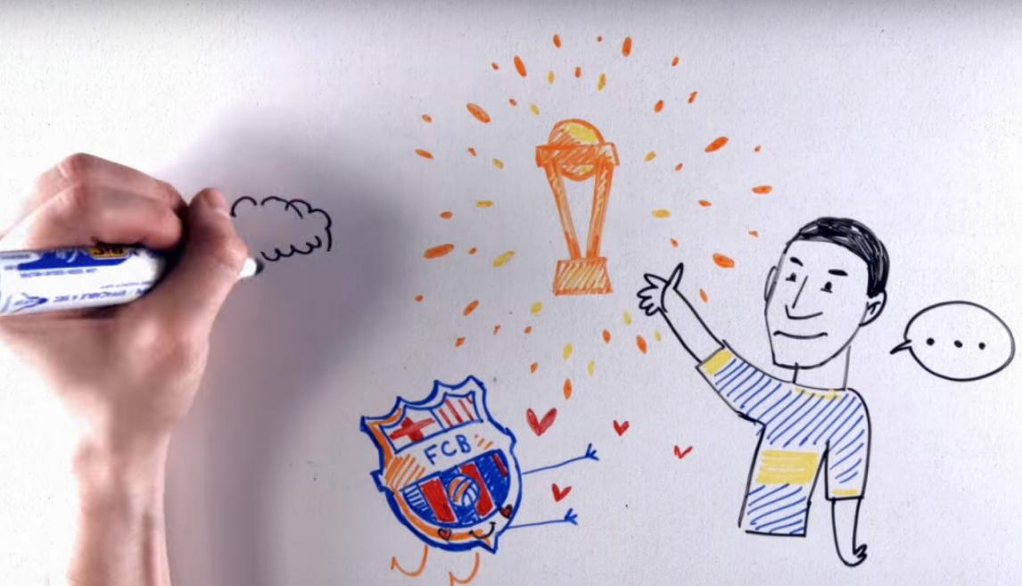 VIDEO: repasá la vida de Juan Román Riquelme en dibujos