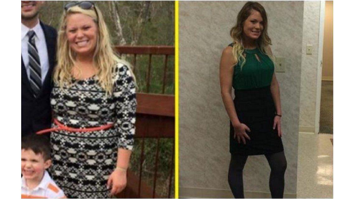 Mirá cómo esta mujer perdió 36 kilos en un año