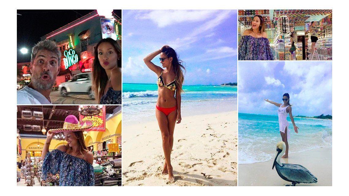 Lourdes Sánchez y el Chato Prada, enamorados y divertidos en Playa del Carmen