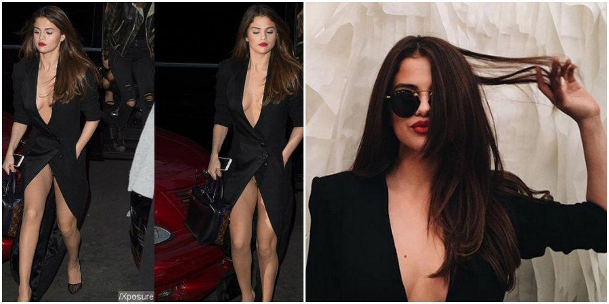 Las fotos de Selena Gomez con un osadísimo vestido: se le vio todo ¿y no tenía ropa interior?