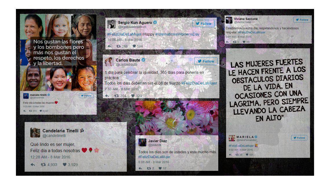#FelizDiaDeLaMujer: los saludos de los famosos en las redes sociales