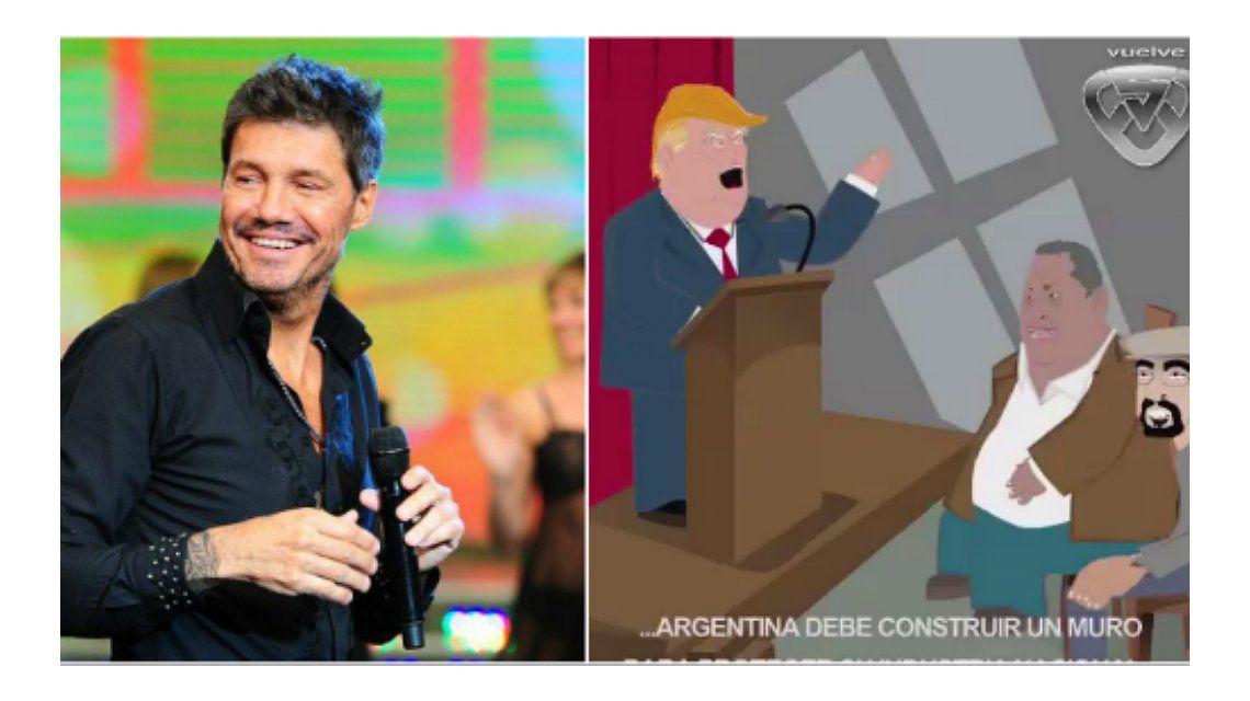 Marcelo Tinelli publicó un divertido video animado con Donald Trump, Luis D´Elía y Fernando Esteche