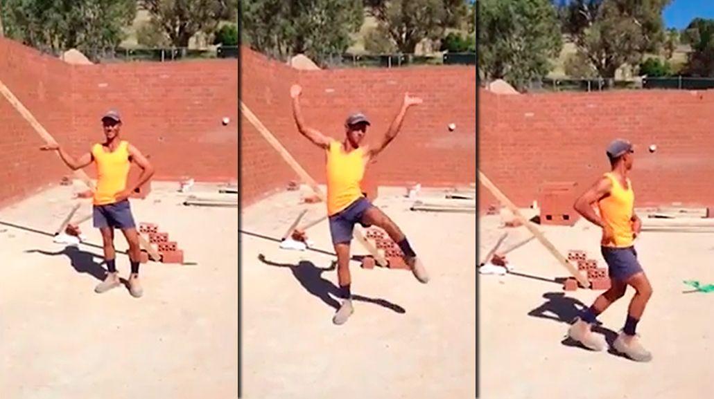 Otro as del fratacho: un albañil bailó como Beyoncé en medio de la obra