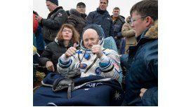 Así regresaron a la Tierra los tres astronautas