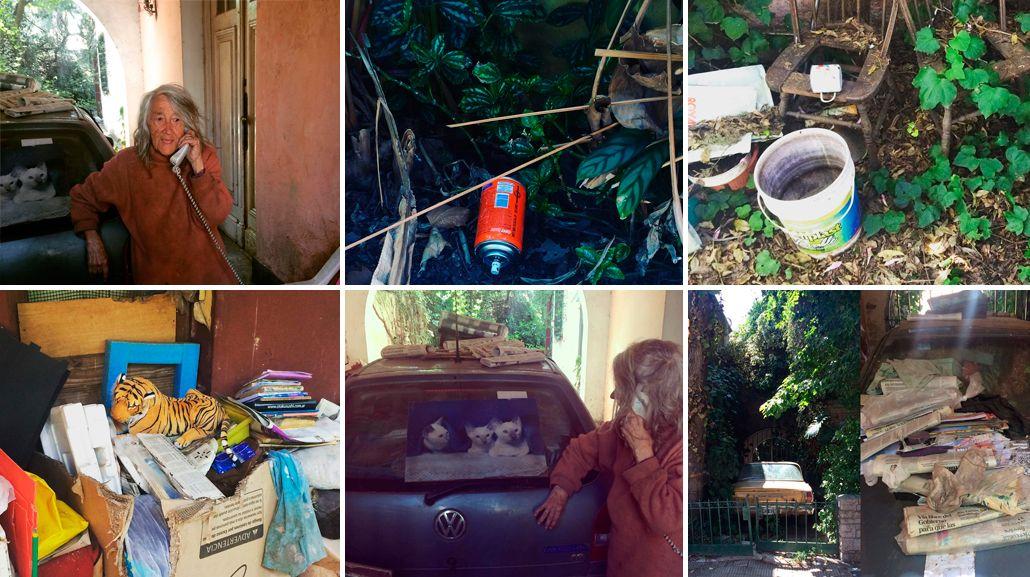 Así vive la mujer que no quiere que fumiguen su casa en Vicente López