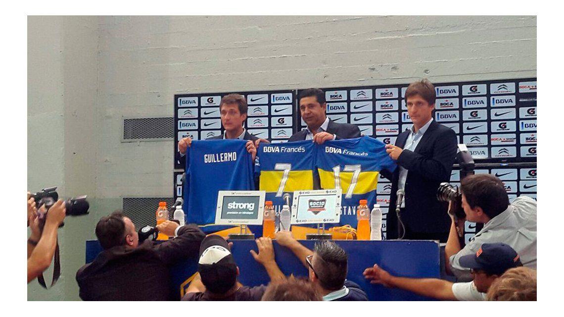 Presentaron a Guillermo en Boca: agradeció a El Vasco por los 2 títulos