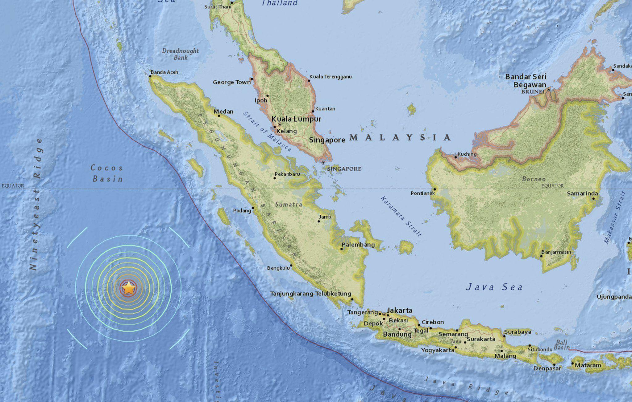 Terremoto y alerta de tsunami en Indonesia