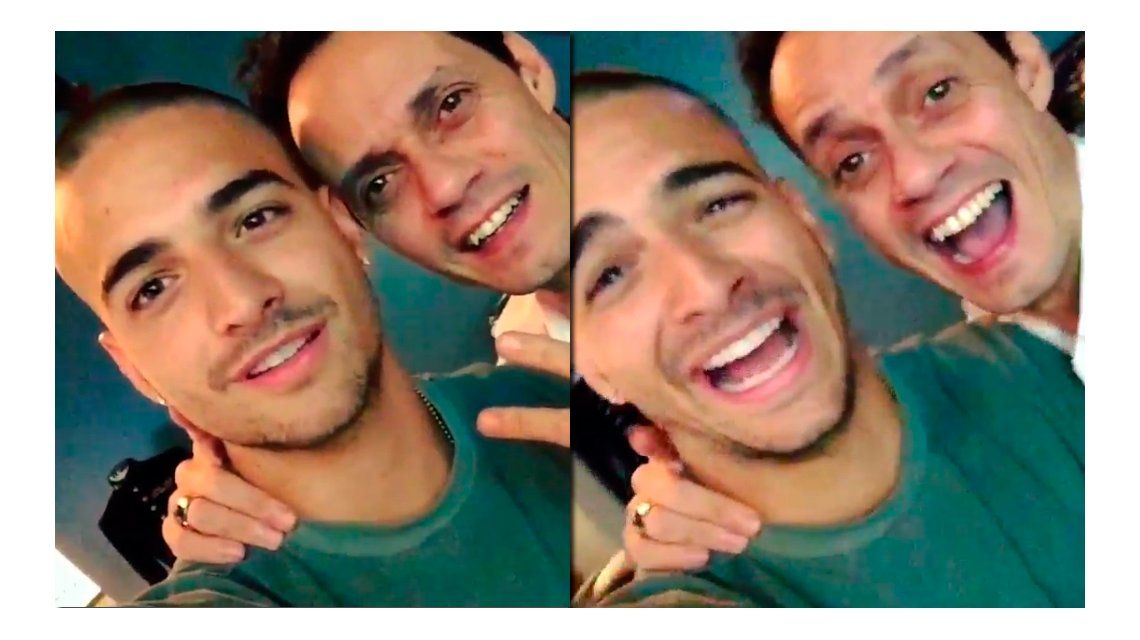 ¿Foto o video? La broma de Maluma a Marc Anthony