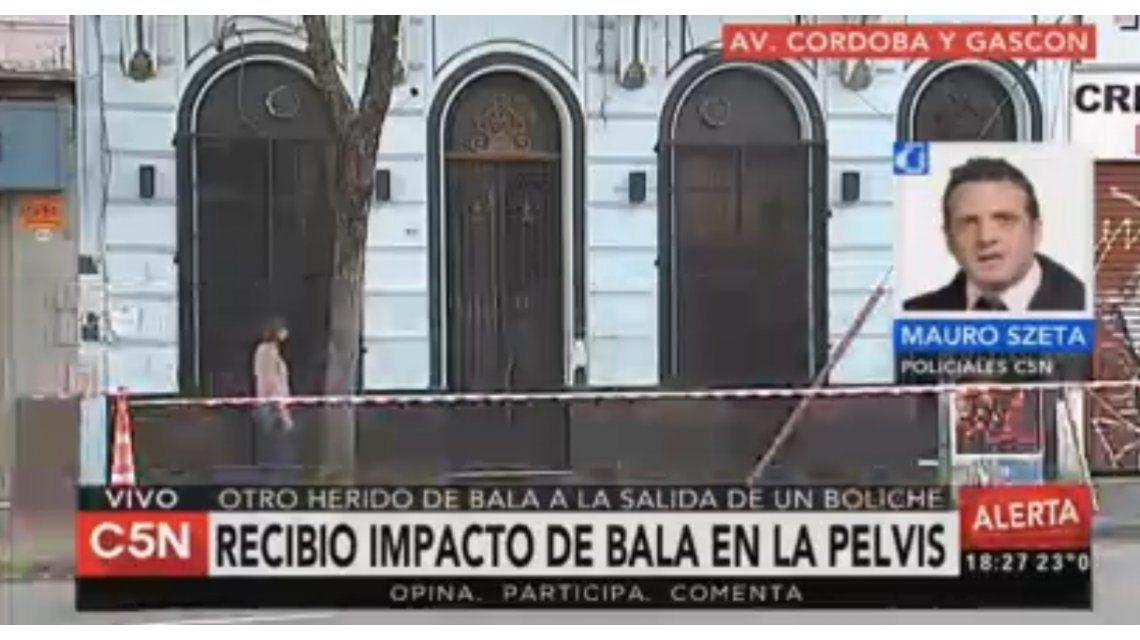 Noche violenta: murió el joven baleado en la puerta de un boliche de Villa Crespo