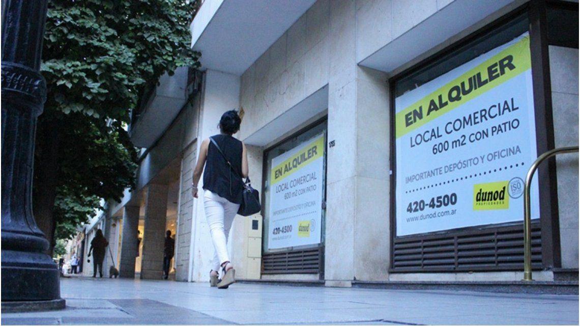 Aumenta la cantidad de locales comerciales vacíos en la ciudad de Buenos Aires