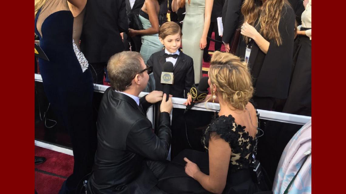 Oscar 2016: Jacob Tremblay, el pequeño protagonista de Room, pura ternura en la previa