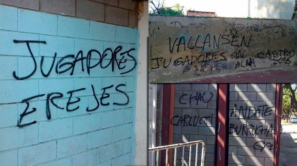Con graves errores ortográficos, amenazaron al plantel de Atlético de Rafaela