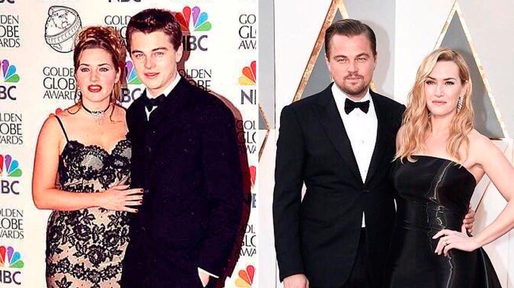 El antes y el después de Leonardo Di Caprio y Kate Winslet