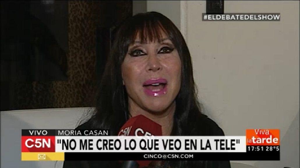 Moria Casán habló sobre la polémica foto de Sofía Gala
