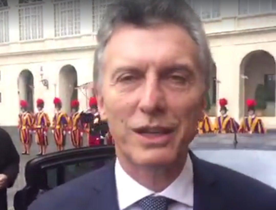 Macri y la relación con Francisco: Vamos a trabajar juntos en muchas cosas