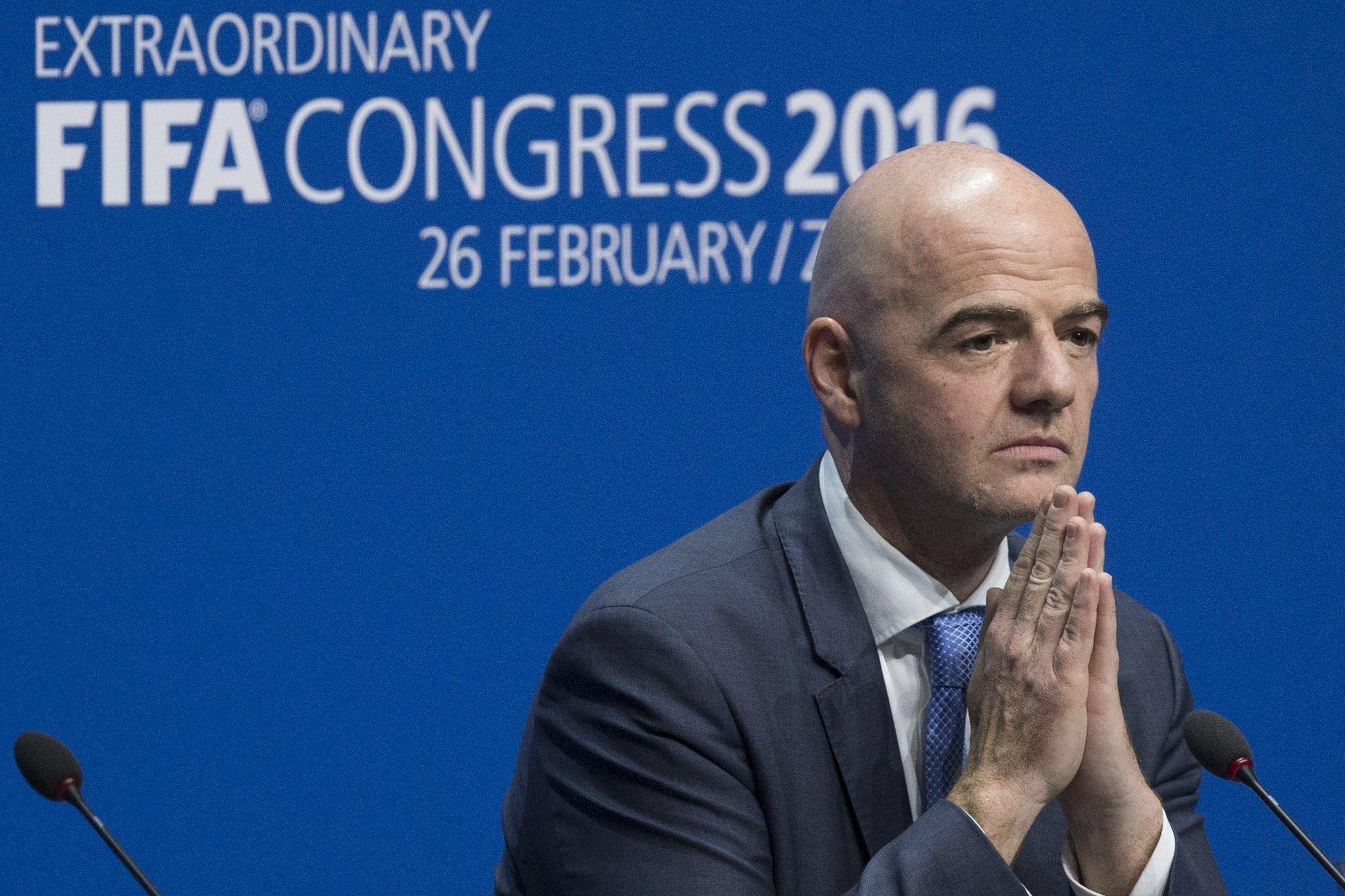 Gianni Infantino, presidente de la FIFA<br>