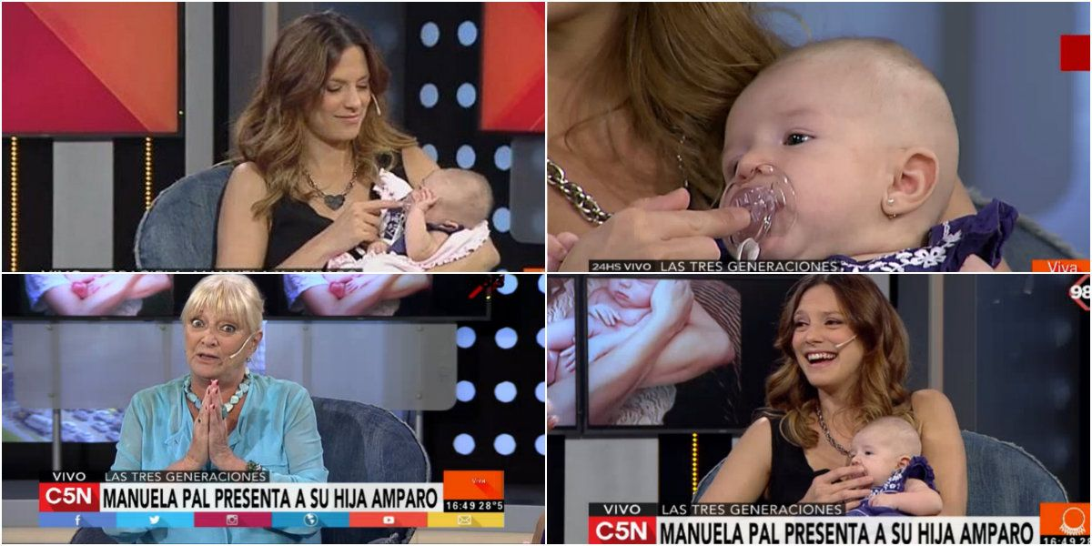 Manuela Pal presentó a su hija Amparo