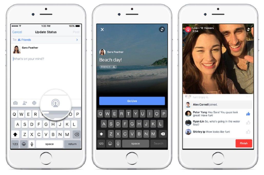 Facebook permitirá transmitir videos en vivo a todos sus usuarios