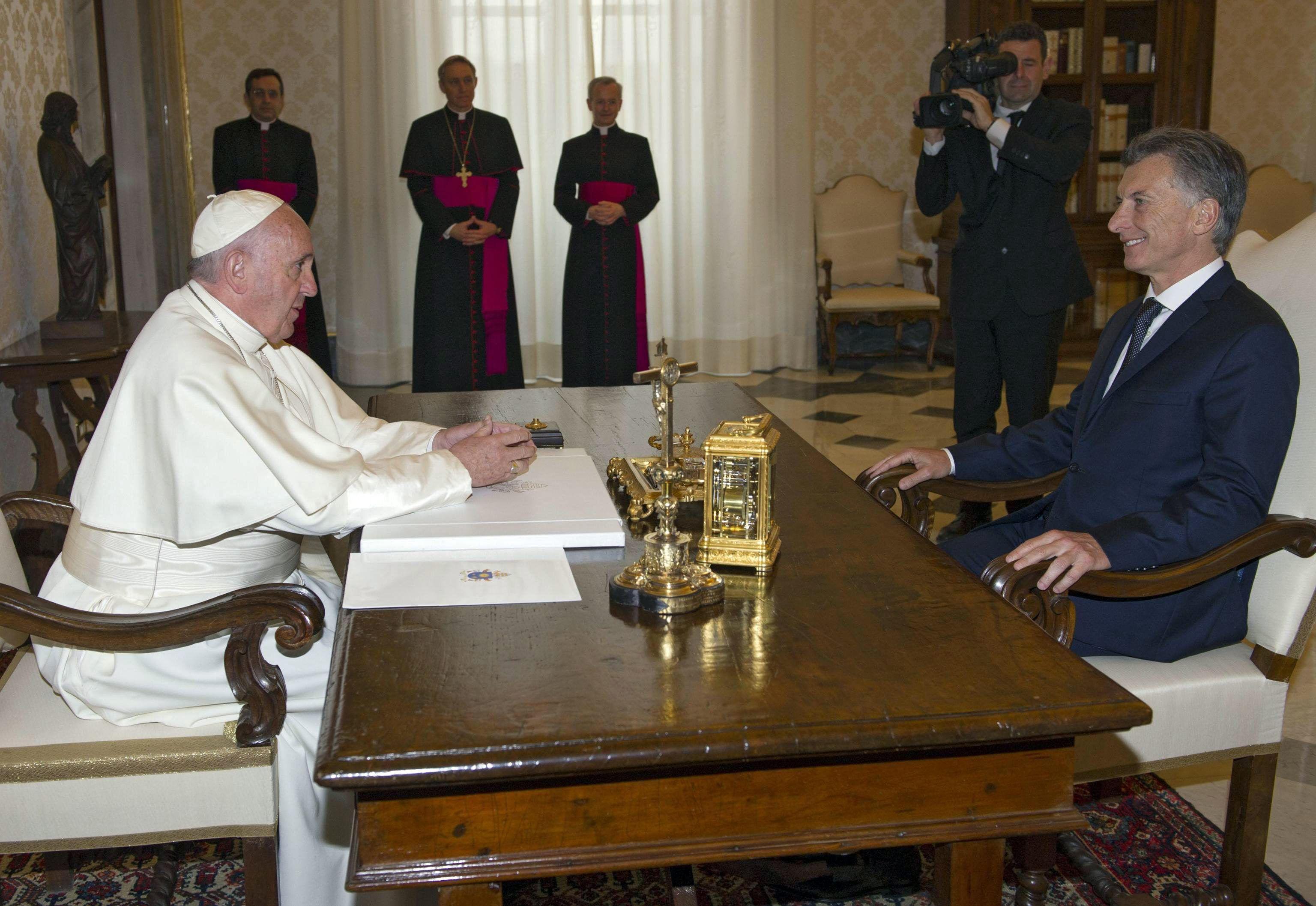 El encuentro entre Macri y el Papa, en fotos