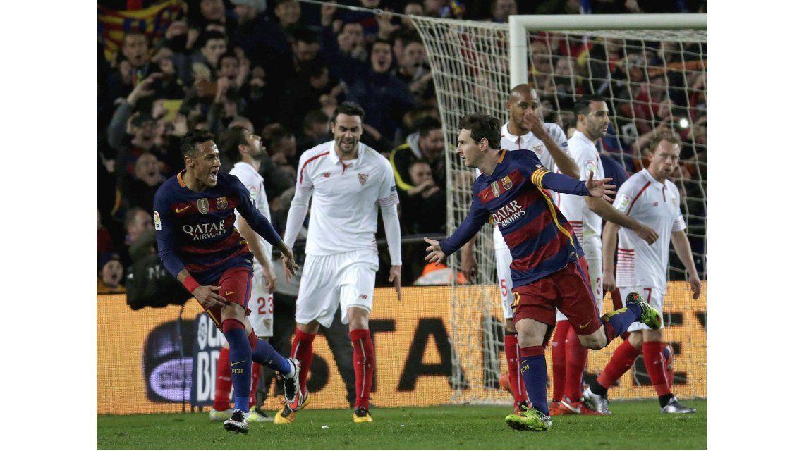 Una pinturita: Messi frotó la lámpara y Barcelona derrotó al Sevilla