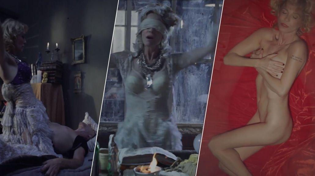 El nuevo videoclip de Gloria Carrá: rito satánico, desnudos y sexo