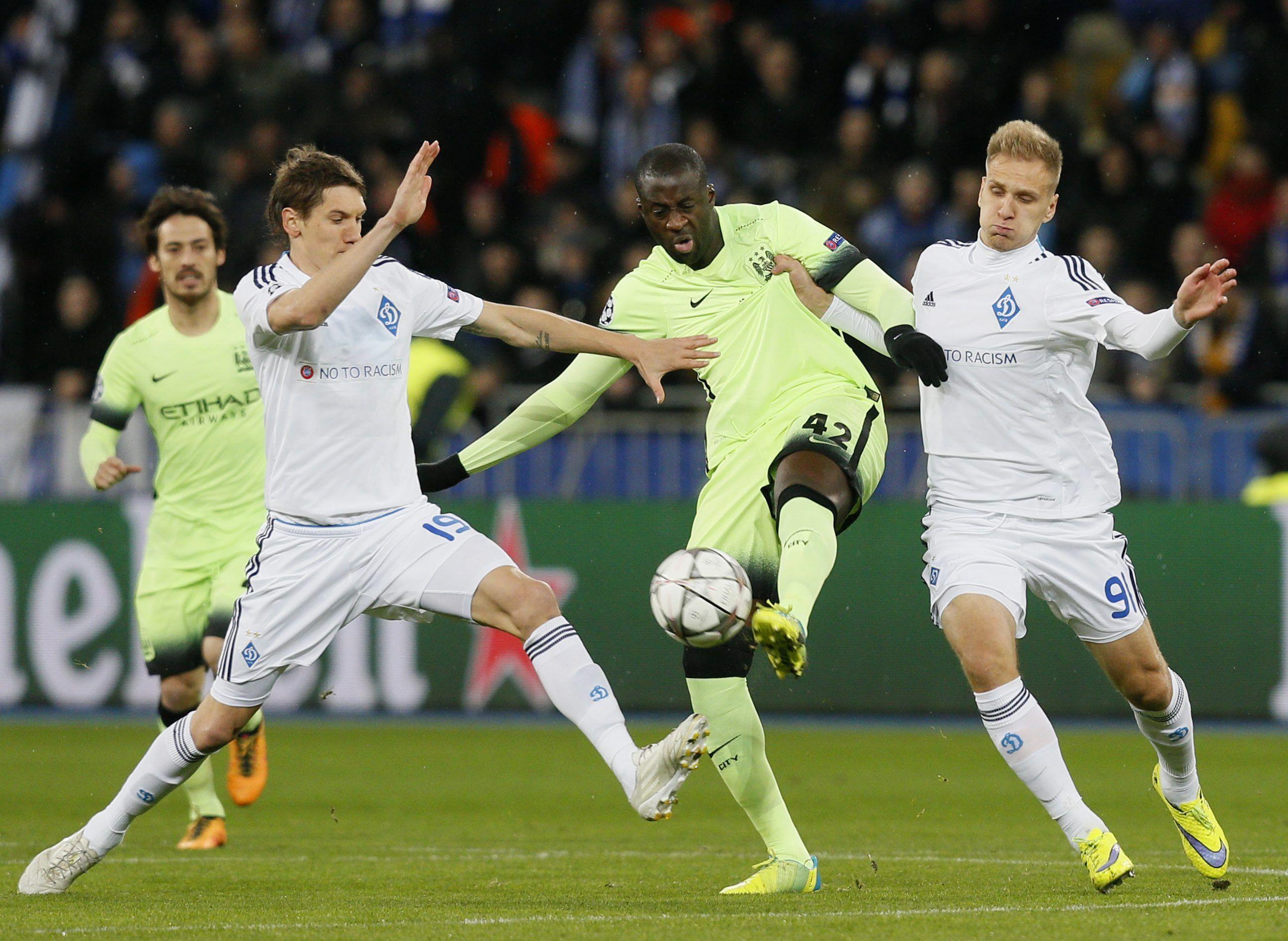 Con un gol de Agüero, el Manchester City le ganó al Dynamo en Ucrania