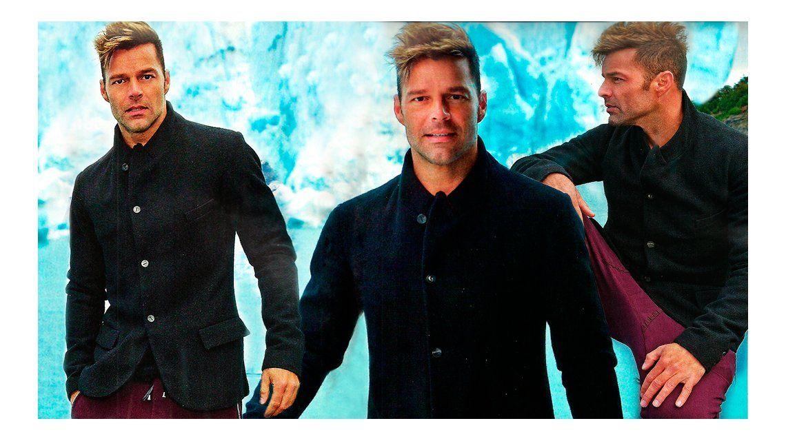 Ricky Martin, en el Glaciar Perito Moreno